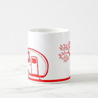 Red Trailer and Tree Mug 15oz