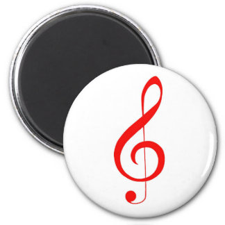 Red Treble Clef Magnet