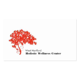Red Tree Holistic and Alternative Health Business Card Templates