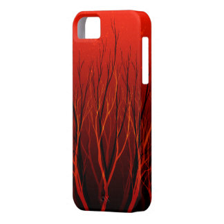 Red Tree Natural Abstract iPhone 5 Case