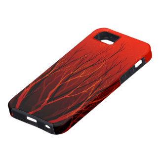 Red Tree Natural Abstract iPhone 5 Cases