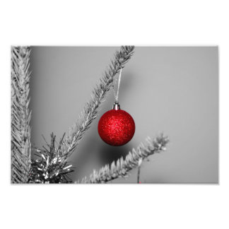 Red tree ornament photo art