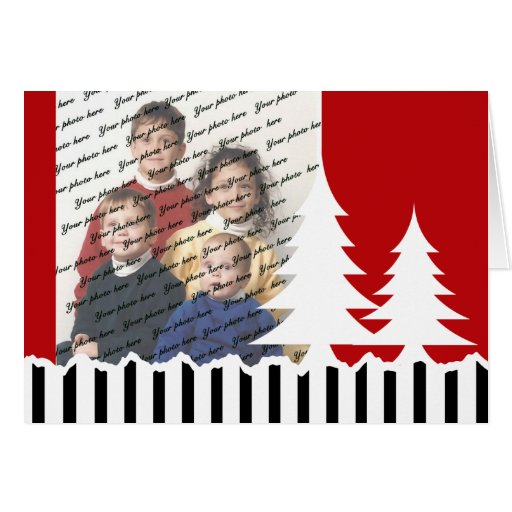 Red Tree Photo Greeting Cards