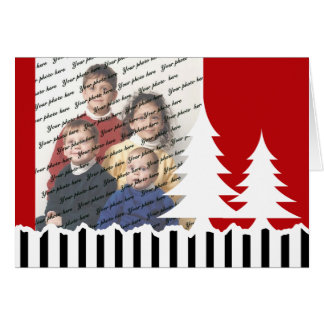 Red Tree Photo Greeting Greeting Card