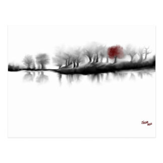 Red Tree Postcard