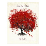 Red Tree Wedding Save The Date