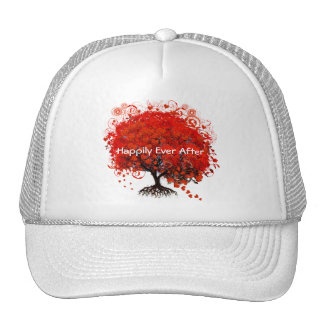 Red Tree Wedding T-Shirts, Gifts, Stickers & Favor Mesh Hat