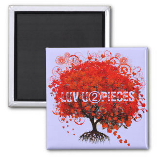 Red Tree Wedding T-Shirts, Gifts, Stickers & Favor Square Magnet