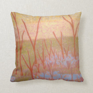 red trees cushion