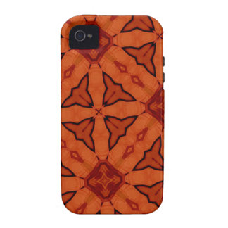 Red trendy abstract pattern iPhone 4 cases