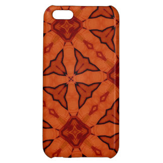 Red trendy abstract pattern iPhone 5C covers