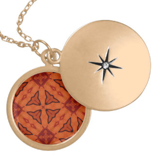 Red trendy abstract pattern pendant