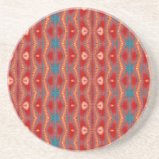 Red trendy pattern coaster