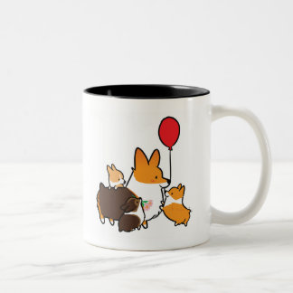 Red Tri-Color Corgi I Love Mom Mug | CorgiThings