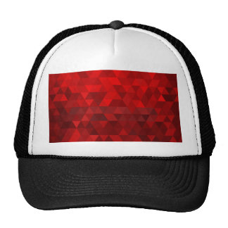 red triangle background abstract geometry pattern cap