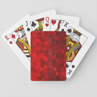 red triangle background abstract geometry pattern playing cards