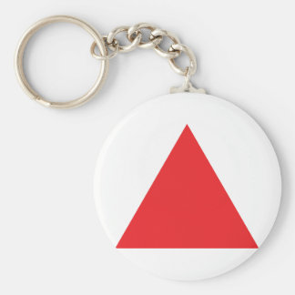 red triangle icon key ring