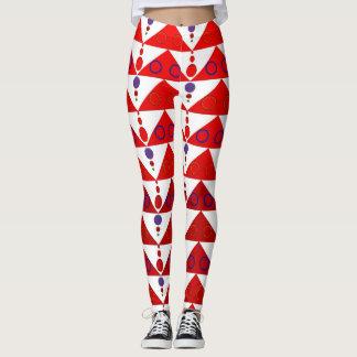 Red Triangles Leggings