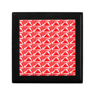 Red Triangles Small Square Gift Box