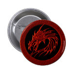 RED TRIBAL DRAGON BUTTONS