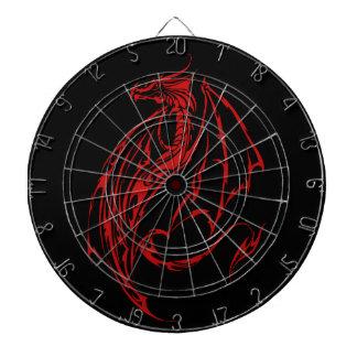 Red Tribal Dragon Dartboard
