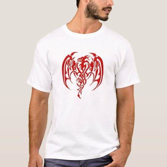 Red tribal dragon T-Shirt