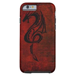 red tribal dragon tattoo art tough iPhone 6 case