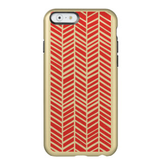 Red Tribal Pattern Metal iPhone 6 Case