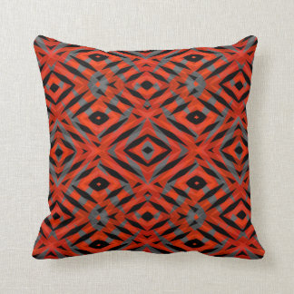 Red tribal shapes pattern cushion