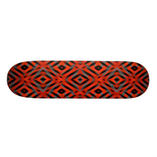 Red tribal shapes pattern skateboards