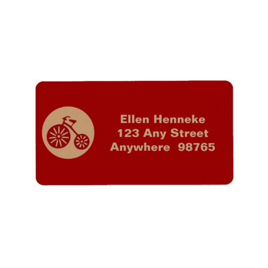 Red Tricycle Address Label