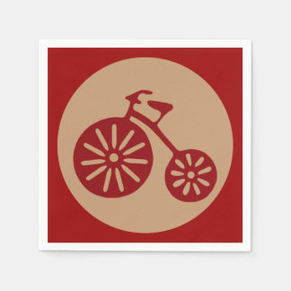 Red Tricycle Paper Napkin