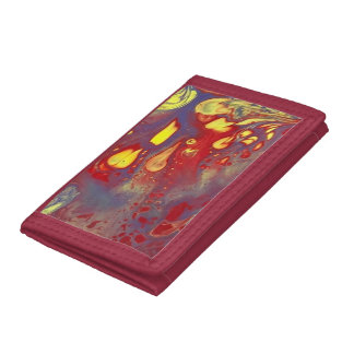 Red Trifold Nylin Wallet