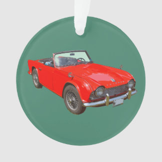 Red Triumph Tr4 Convertible SportsCar Ornament