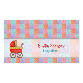 Red Trolley Babysitting & Child Care Squared Card Pack Of Standard Business Cards
