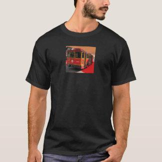 Red Trolley Bus Streetcar transportation  Photo T-Shirt