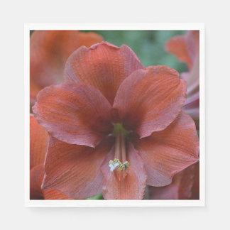 Red Tropical Flower Disposable Serviette