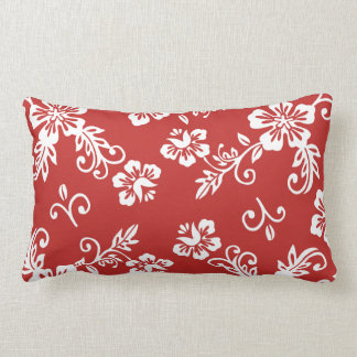 Red Tropical Print Pillow