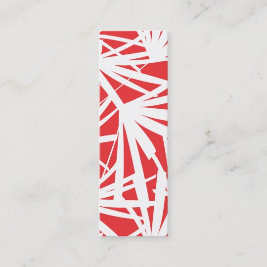 RED TROPICAL Slim Business Card