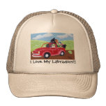 Red Truck and Labradors Cap