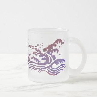 Red Tsunami Frosted Glass Mug