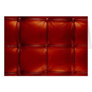 Red Tufted Leather Card