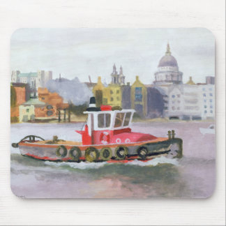 Red Tug passing St. Pauls 1996 Mouse Mat