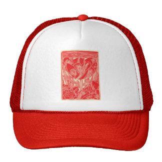 Red Tulip Baseball Cap Hat