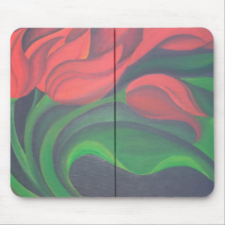 Red Tulip Diptych Mouse Pad