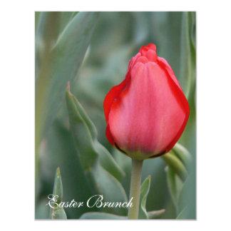 Red Tulip Easter Brunch Invitations