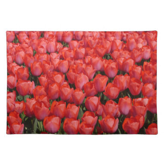 red tulip field placemat