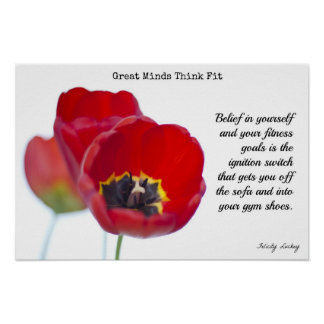 Red Tulip Fitness Poster #1
