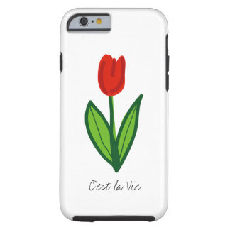 Red tulip flower iPhone 6 case | personalizable Tough iPhone 6 Case