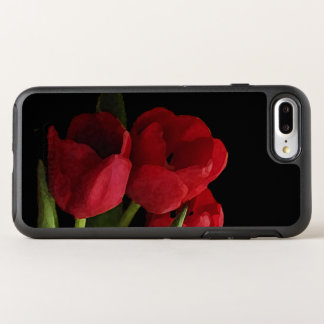 Red Tulip Garden Flowers Floral Black OtterBox Symmetry iPhone 7 Plus Case
